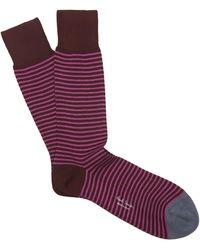 Paul Smith - Mini Stripe Contrasting Socks - Lyst