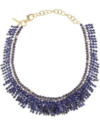 Lele Sadoughi - Gold-plated Howlite Shaggy Stone Necklace - Lyst