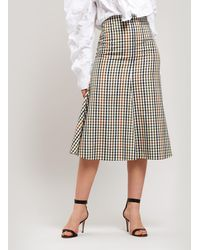 Awake - Gingham Midi-skirt - Lyst