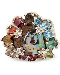 Stephen Dweck - Silver Multi-stone Cluster Ring - Lyst