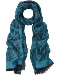 Liberty - Ianthe 70 X 200 Jacquard Wool Blend Scarf - Lyst