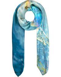 Weston - Light Blue Mineral Silk Shawl - Lyst