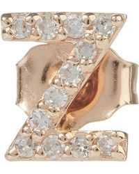KC Designs - Diamond Z Single Stud Earring - Lyst