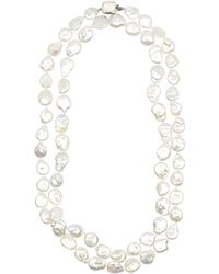 Stephen Dweck - Silver And White Nugget Pearl Long Strand Necklace - Lyst