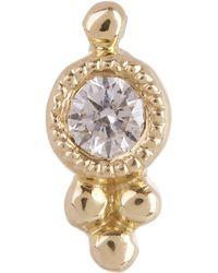 Maria Tash - Diamond Four Ball Trinity Threaded Stud Earring - Lyst