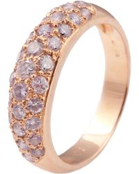 Kojis - Rose Gold Pave Pink Diamond Ring - Lyst