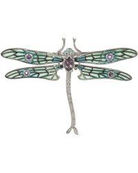 Kojis - Silver Dragonfly Brooch - Lyst