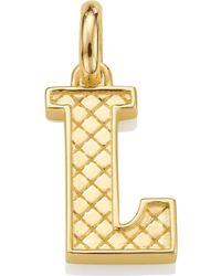 Monica Vinader | Gold-plated Alphabet Pendant A-z | Lyst