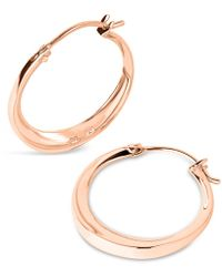 Dinny Hall - Small Rose Gold-plated Signature Hoop Earrings - Lyst