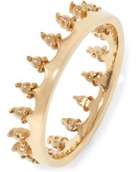 Annoushka - 18ct Gold Crown Ring - Lyst