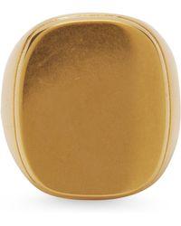 Céline - Gold Vermeil Square Signet Ring - Lyst