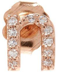KC Designs - Rose Gold Diamond N Single Stud Earring - Lyst