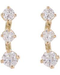 Satomi Kawakita - Gold Small Diamond Cluster Stud Earrings - Lyst