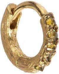 Annoushka - Dusty Diamond Gold Hoop Earring - Lyst