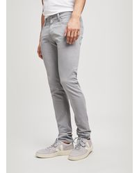 AG Jeans - Sueded Stockton Skinny Jeans - Lyst