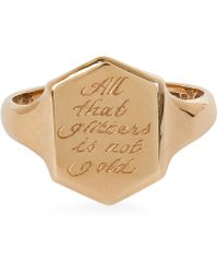 Annina Vogel - Vintage Gold All That Glitters Engraving Project Signet Ring - Lyst