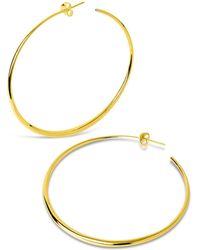 Dinny Hall - Large Vermeil Signature Tapering Hoop Earrings - Lyst
