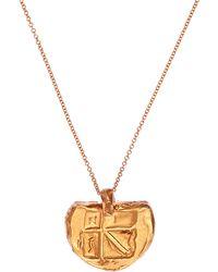 Alighieri Gold-plated Il Leone Medallion Necklace - Metallic