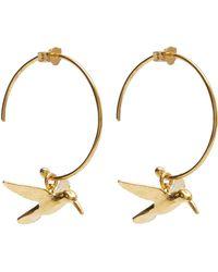 Alex Monroe - Gold-plated Hummingbird Hoop Earrings - Lyst