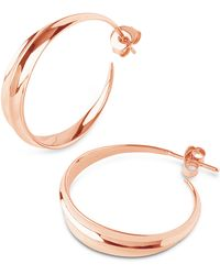 Dinny Hall - Medium Rose Gold-plated Lotus Hoops - Lyst
