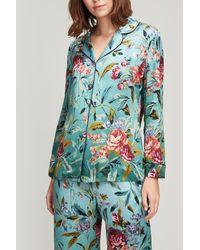 Liberty - Desert Rose Silk Satin Pyjama Set - Lyst