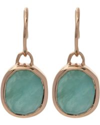 Monica Vinader - Rose Gold Vermeil Siren Amazonite Drop Earrings - Lyst