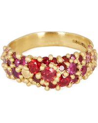 Polly Wales - Gold Plum Blossom Sapphire River Ring - Lyst