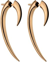 Shaun Leane - Rose Gold Vermeil Hook Earrings - Lyst
