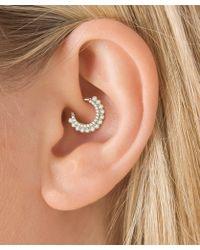 "Maria Tash - 5/16"" Cubic Zirconia Aspara Clicker Daith Ring - Lyst"