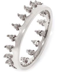 Annoushka - 18ct White Gold Crown Ring - Lyst
