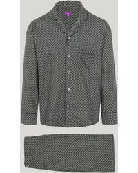 Liberty - Juno Brushed Cotton Long Pyjama Set - Lyst