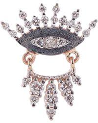 Kismet by Milka - Rose Gold 10th Eye Regina Diamond Single Stud Earring - Lyst