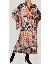 byTiMo - Patchwork Kimono Wrap Dress - Lyst