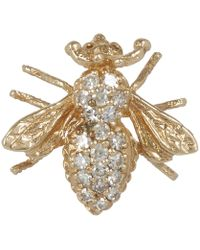 Kojis - Gold Diamond Insect Brooch - Lyst