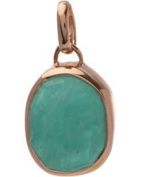 Monica Vinader - Rose Gold-plated Amazonite Siren Medium Bezel Pendant - Lyst