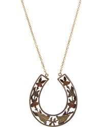 Annina Vogel | Silver And Gold Horseshoe Necklace | Lyst