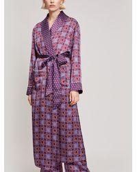 Liberty - Harlequin Iphis Silk Satin Long Robe - Lyst