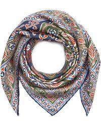 Liberty - Francis 70 X 70cm Silk Twill Foulard Scarf - Lyst