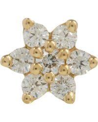 Maria Tash - 3mm Diamond Flower Threaded Stud Earring - Lyst