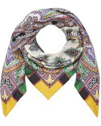 Etro - Jodhpur Basic Paisley Print Scarf - Lyst