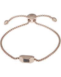 Monica Vinader - Rose Gold-plated And Labradorite Baja Deco Bracelet - Lyst