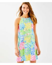 9d98f330da80fe Lilly Pulitzer Keali Stretch Shift Dress in White - Lyst