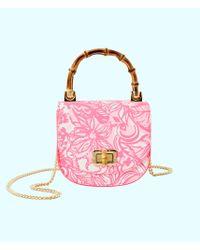 f91c2054b725 Lilly Pulitzer - Leilani Bamboo Top Handle Mini Bag - Lyst