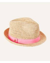 d321a59b717 Lyst - Lilly Pulitzer Poolside Fedora Hat in Natural