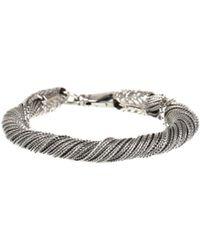 Emanuele Bicocchi   Silver Twisted Bracelet   Lyst