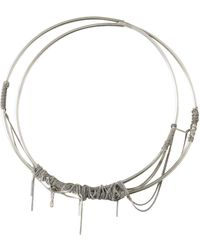 Ann Demeulemeester - Multichained Silver Necklace - Lyst