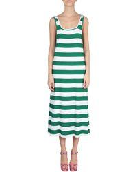 Au Jour Le Jour - Viscose Striped Maxi Dress - Lyst