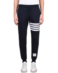 Thom Browne - Striped Cotton Joggers - Lyst