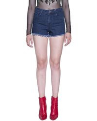 Amen - Printed Denim Cotton Shorts - Lyst