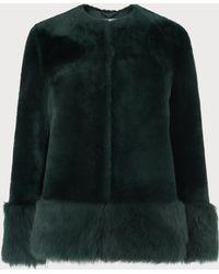 L.K.Bennett - Mishia Green Shearling Jacket - Lyst